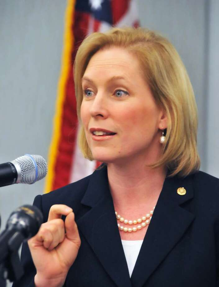 U.S. Sen. Kirsten Gillibrand says education is a good investment and wants colleges and universities in New York state to help prepare students for good jobs. (John Carl D'Annibale/Times Union) Photo: John Carl D'Annibale / 00008350A