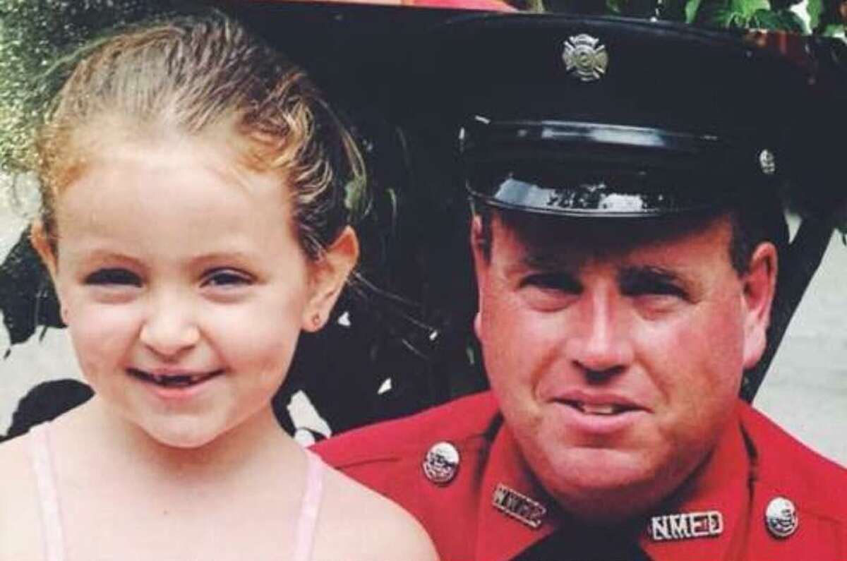 Patrick Maguire of New Milford, shown above with his daughter Ashley, now 17, was a dedicated family man, community member and first responder. Maguire died in January following a brain aneurysm.