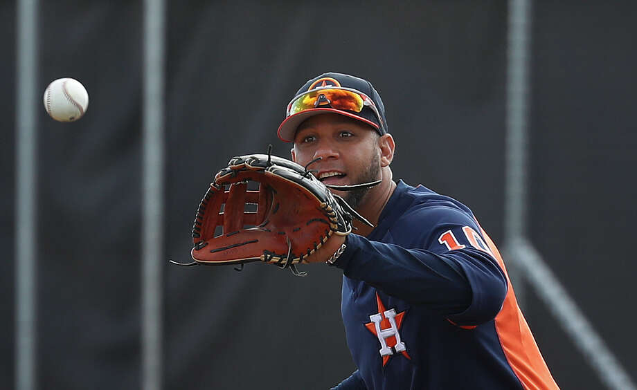 Houston Astros first baseman Yuli Gurriel (10) during spring training at The Ballpark of the Palm Beaches, Wednesday, Feb. 21, 2018, in West Palm Beach.   ( Karen Warren / Houston Chronicle ) Photo: Karen Warren/Houston Chronicle