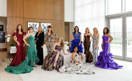 The 2018 Houston Chronicle Best Dressed honorees, from left: Brigitte Kalai, Hallie Vanderhider, Lindley Arnoldy, Karina Barbieri, Paige Fertitta, Claire Cormier Thielke, Alicia Smith, Millette Sherman, Stephanie Cockrell and Shawntell McWilliams photographed at The Wilshire in Houston.