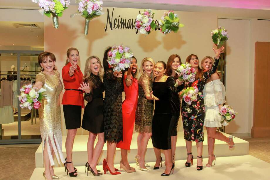 Best Dressed honorees Hallie Vanderhider, from left, Paige Fertitta, Millette Sherman, Alicia Smith, Claire Cormier-Thielke,  Stephanie Cockrell, Shawntell McWilliams, Brigitte Kalai, Karina Barbieri and Lindley Arnoldy.   (For the Chronicle/Gary Fountain, January 30, 2018) Photo: Gary Fountain, For The Chronicle / Copyright 2018 Gary Fountain