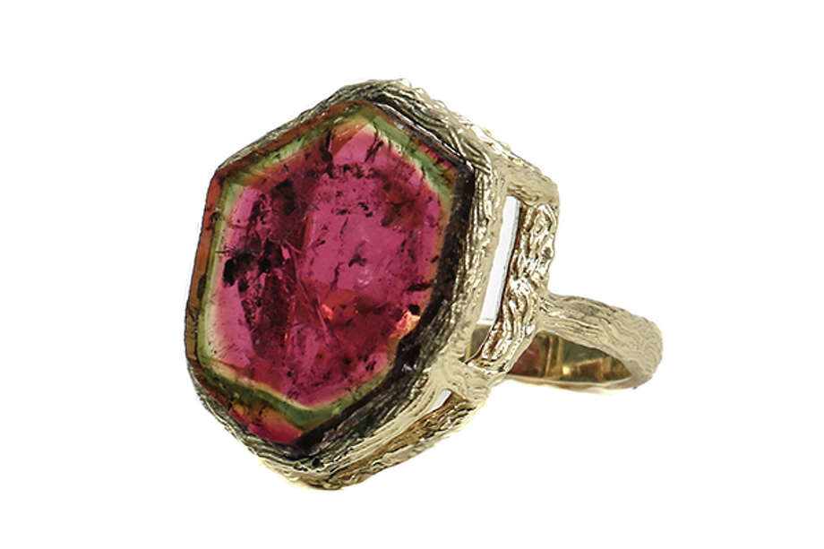 Bezel watermelon tourmaline ring by Gienia, $3,200 Photo: Gienia