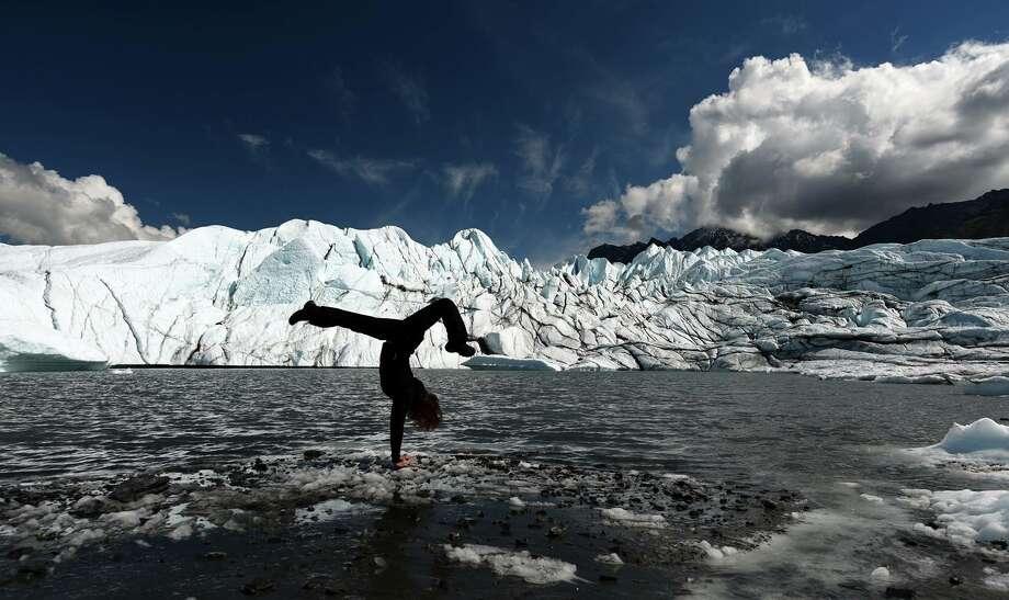Chronicle photographer Elizabeth Conley in Alaska Photo: Brian Aho