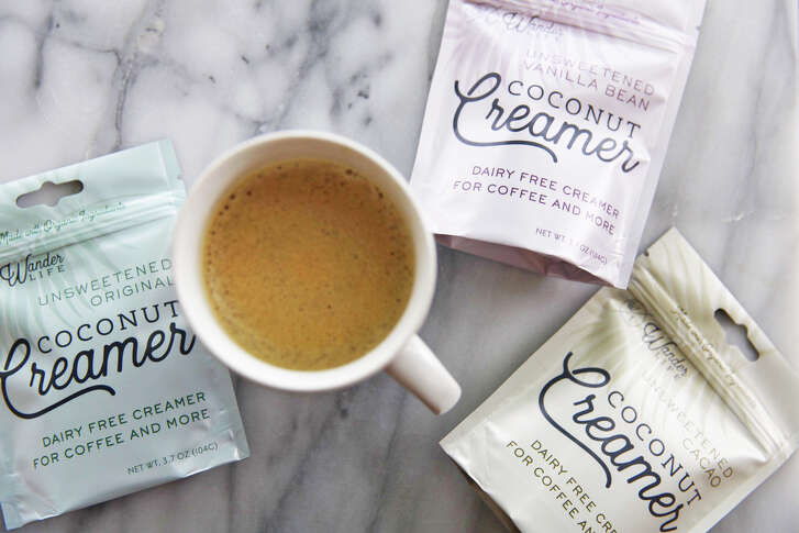 Wander Life?s vegan Coconut Creamer is dairy- and gluten-free in flavors including original, vanilla bean and cacao. It does not have to be refrigerated. $6.99-$23; wanderlifecreamer.com