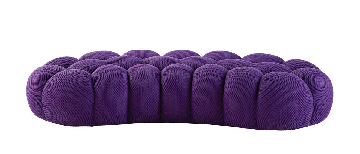 Sacha Lakic'?'s popular Bubble line for Roche Bobois continues to grow with this new grand pouf. $3,565 grand pouf; Roche Bobois, 4810 San Felipe