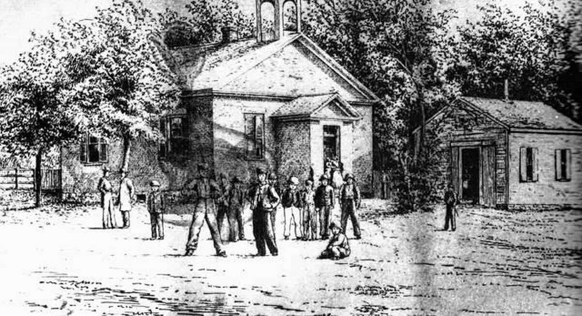 The first public school in Alton was completed in 1845, at a total cost of $580.70. It was constructed of brick, designed by Lowe and Parks, and was a very primitive structure. The frame annex was added at a later time. By the year 1866, Alton was said to have an excellent system of common school education. Early private schools were operated by individuals. It was not until 1843 that the Alton City Council appropriated $100 for the purchase of a block of property in Pope's Addition for a school. Judge Nathaniel Pope deeded the lot to the city for half price as it was to be used for educational purposes. A committee of B.B. Barker, T.G. Starr, Dr. B.K. Hart, and M.G. Atwood was appointed to build a school. Alton School #2 was completed in 1845. School #3 was erected in 1851, with School #1 following in 1853. Five schools were in use by 1856.