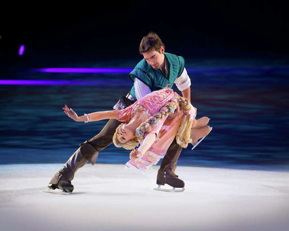 "Rapunzel and Flynn in Disney On Ice's upcoming production, ""Reach For The Stars"" Photo: For The Telegraph"