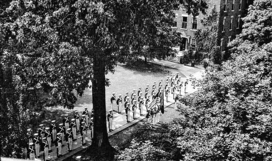Western Military Academy was an internationally recognized prep school that existed for 92 years in upper Alton. Every Sunday the cadet corps assembled and marched in a formal dress parade for campus visitors. Photo: Submitted