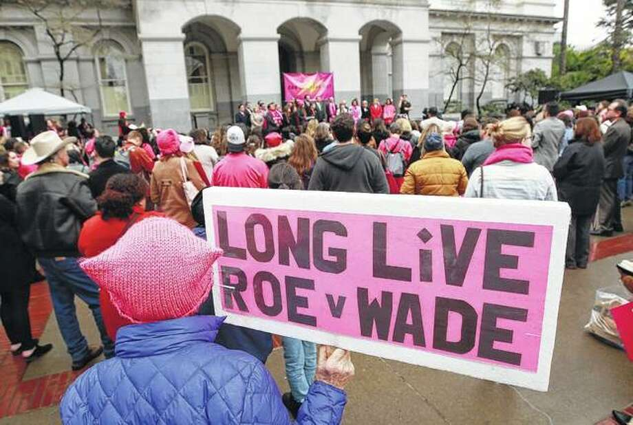 Supporters attend a Planned Parenthood-sponsored rally in January in Sacramento, California, to commemorate the 45th anniversary of the landmark Roe vs. Wade Supreme Court ruling. The landmark 1973 decision affirmed a woman's right to have an abortion. Photo: Rich Pedroncelli | Associated Press