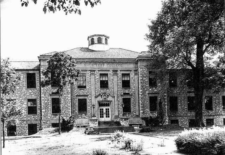The Shurtleff College Administration Building is an imposing structure of limestone with classic columns and facade. The tile roof and cupola set it apart from other local structures. It was erected after the disastrous fire of 1938 destroyed the old dormitory-administration building. Photo: File Photo