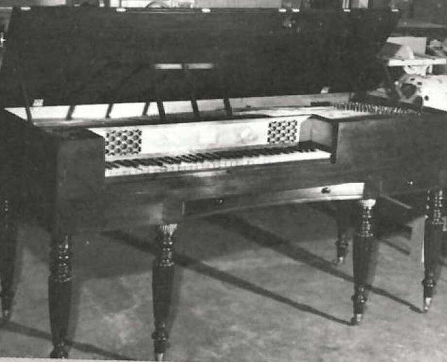 Now part of the collection at the Madison County Museum in Edwardsville, this piano was used by Mrs. Celia Lovejoy in her Alton home in 1836-37. It is of an unusual rectangular shape and is in excellent condition. Photo: File Photo