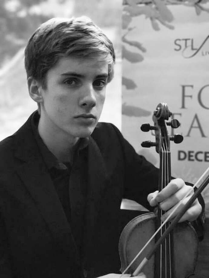 Theo Bockhorst, 16, featured youth performer, a violinist who won Alton Symphony Orchestra's Marie Stillwell Competition, held earlier in the current season. Photo: For The Telegraph