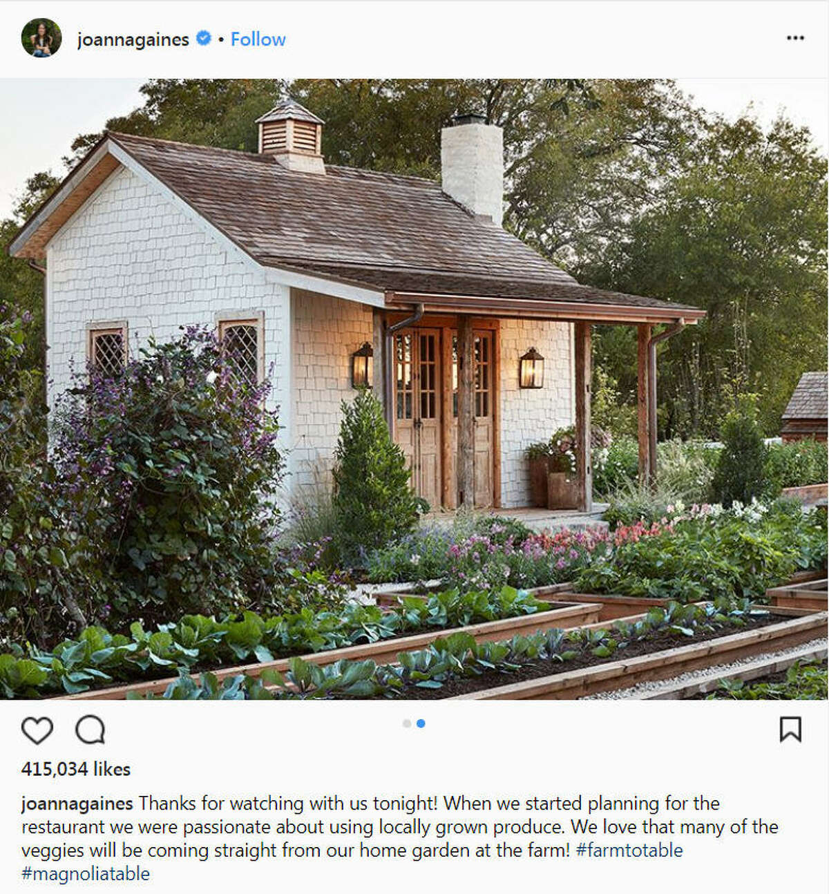 Chip and Joanna Gaines' new restaurant Magnolia Table drew numerous fans and hungry stomachs during its Feb. 2017 opening.Image source: Instagram