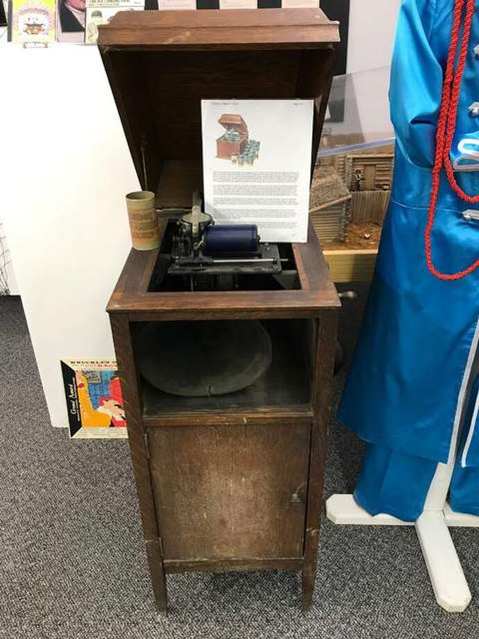 "An Edison Cylinder Phonograph on display at the Wood River Museum's ""The Artistry of Record Album Covers"" exhibit. The exhibit opens Thursday, March 1. Photo: Kelsey Schulz 