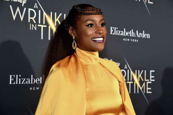 LOS ANGELES, CA - FEBRUARY 26:  Actor Issa Rae arrives at the world premiere of Disney?s 'A Wrinkle in Time' at the El Capitan Theatre in Hollywood CA, March 26, 2018.