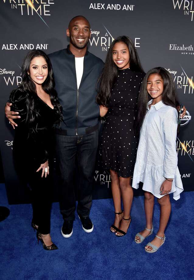 LOS ANGELES, CA - FEBRUARY 26:  (L-R) Vanessa Laine Bryant, former NBA player Kobe Bryant, Natalia Diamante Bryant, and Gianna Maria-Onore Bryant arrive at the world premiere of Disney?s 'A Wrinkle in Time' at the El Capitan Theatre in Hollywood CA, March 26, 2018. Photo: Alberto E. Rodriguez, Getty Images For Disney / 2018 Getty Images