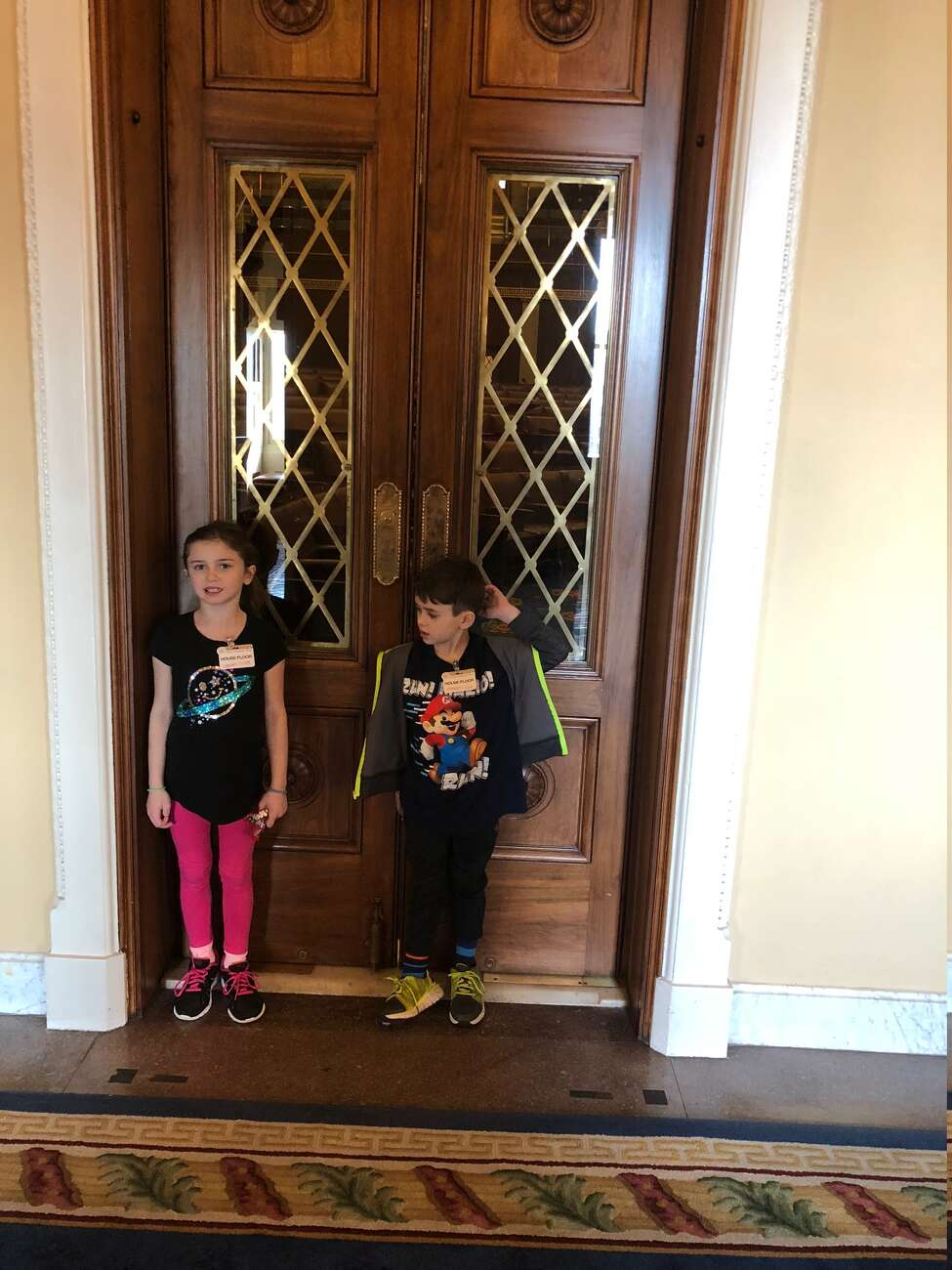 Julia and Colin Sweeney visit the U.S. House of Representatives last week where their father, former Congressman John Sweeney, once wielded a lot of power before his alcohol-fueled downfall.