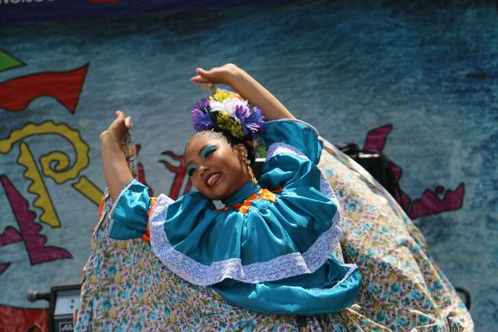 A dancer from the group Cuicacalli. The group performs in the Mission Youth Arts Festival, Saturday, March 10.  Image courtesy Cuicacalli