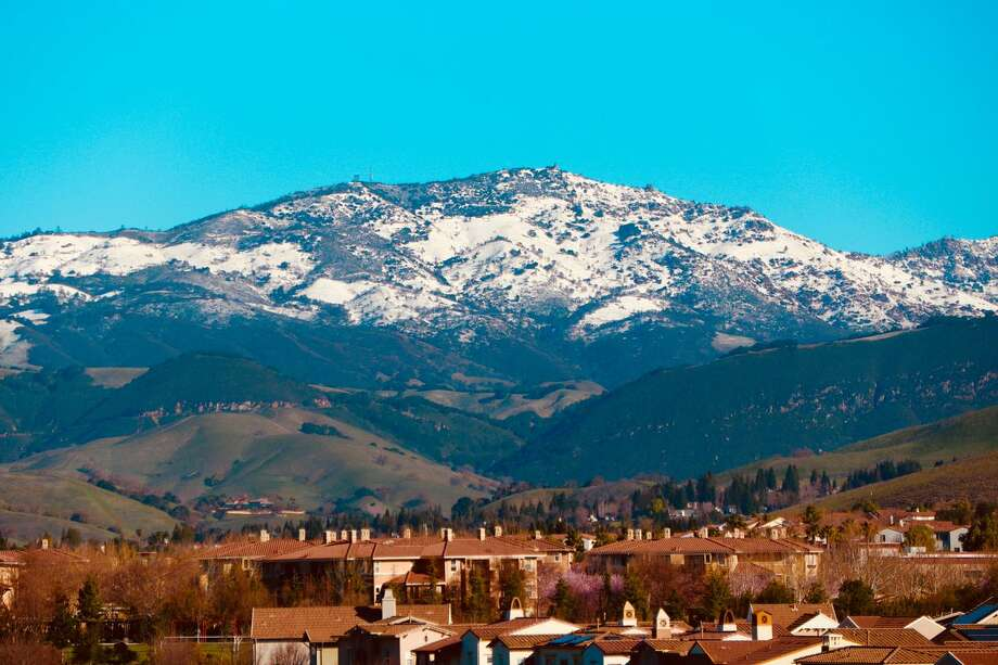 Guru Shetti shared this photo of his view of snowy Mt. Diablo from San Ramon on February 27, 2018. Photo: Courtesy Guru Shetti
