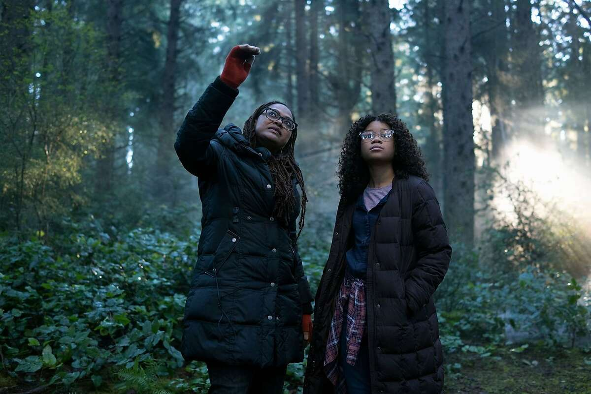 """Left to right: Director Ava DuVernay directs Storm Reid in a scene from """"A Wrinkle in Time."""""""