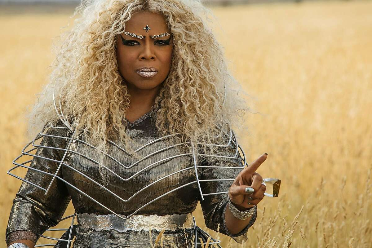 """Oprah Winfrey as Mrs. Which, a celestial being who has come to earth to help two children search for their missing father in Ava DuVernay's adaptation of Madeleine L'Engle's novel """"A Wrinkle in Time."""""""