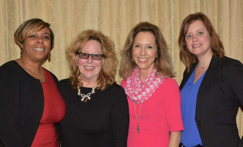Cynthia Barratt was named Child Advocate of the Year for 2017 at Child Advocates of Fort Bend's Annual Volunteer Celebration. From left are Child Advocates of Fort Bend CASA Program Director Metoyer Martin,  Barratt, Child Advocates of Fort Bend CEO Ruthanne Mefford and Child Advocates of Fort Bend Children's Advocacy Center Program Director Fiona Remko. Photo: Child Advocates Of Fort Bend