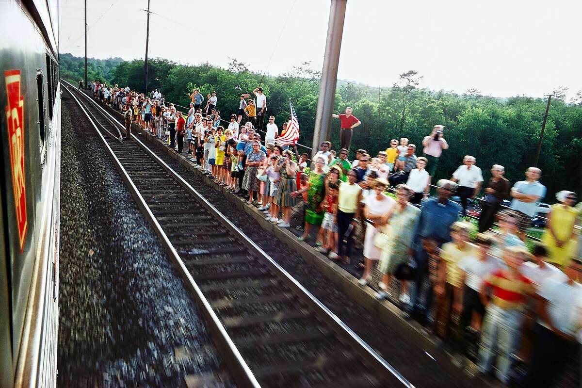 Paul Fusco, Untitled, from the series RFK Funeral Train, 1968, printed 2008; San Francisco Museum of Modern Art, purchase through a gift of Randi and Bob Fisher, Nion McEvoy, Kate and Wes Mitchell, The Black Dog Private Foundation, Candace and Vincent Gaudiani, Michele and Chris Meany, Jane and Larry Reed, and John A. MacMahon