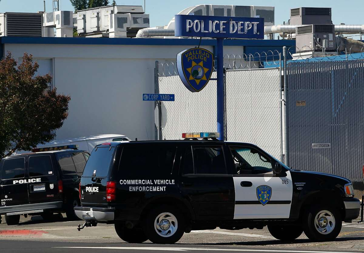 A police vehicle arrives at the department's headquarters in Vallejo, Calif. on Tuesday, July 14, 2015. The FBI is investigating a bizarre kidnapping case back in March, which Vallejo police originally determined to be a hoax, after a suspect was arrested for a botched home invasion in Dublin and possibly linking him to the kidnapping.