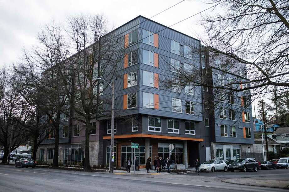 Affordable housing search:Low-income families can search for housing through the Office of Housing's affordable search site. Most of the apartments are rent-restricted and require income verification. Washington state also hosts a housing search website to find affordable housing throughout the state. Click here to see that site.Pictured: DESC's new supportive housing project, The Estelle, on Rainier Ave S, on Tuesday, Feb. 27, 2018. Photo: GRANT HINDSLEY, SEATTLEPI.COM / SEATTLEPI.COM
