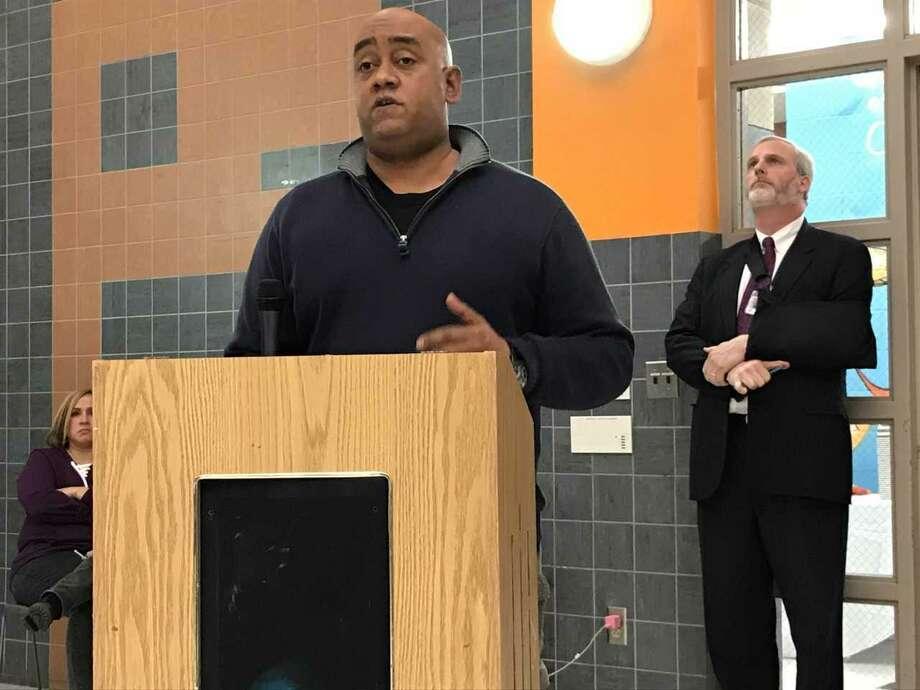 New Haven Public Schools Director of Security Thaddeus Reddish Photo: Brian Zahn / Hearst Connecticut Media