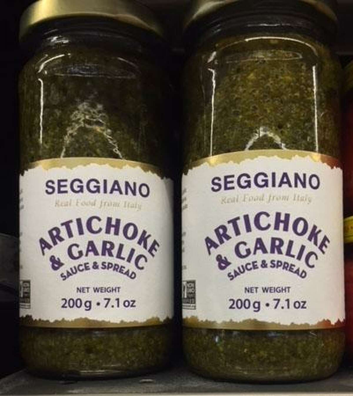 Seggiano USA, Inc. of Cheyenne, Wy. is voluntarily recalling Tuscan Kale Pesto sold in multiple states, including Connecticut, because the labels do not declare tree nuts (cashews). Photo courtesy of the U.S. Food and Drug Administration.