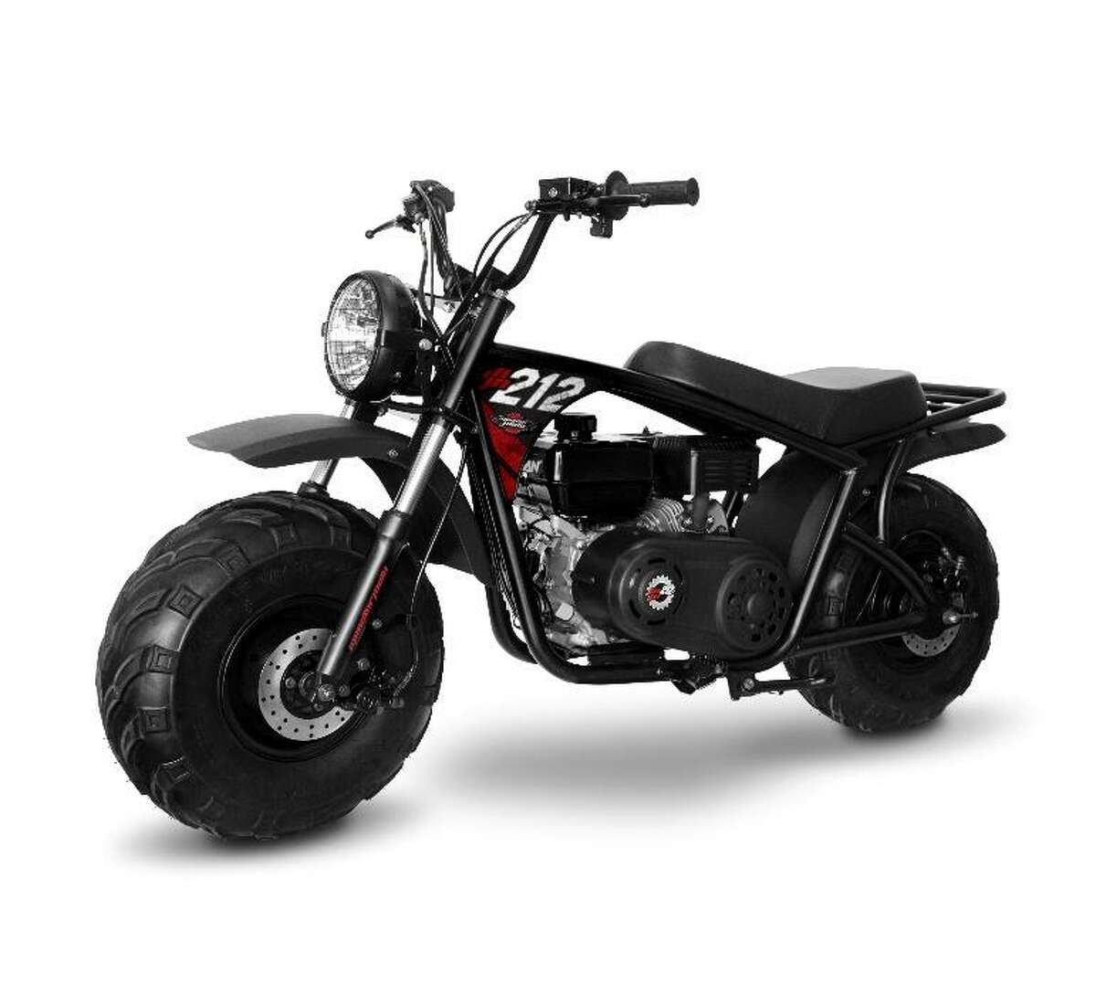 Monster Moto is recalling about 1,800 Monster Moto Classic 212cc mini bikes, as the fuel tank venting system can leak, posing a fire hazard. Photo courtesy of the U.S. Consumer Product Safety Commission.