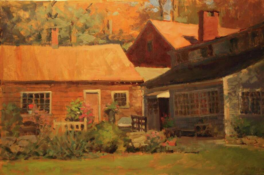 "The Kent Memorial Library is presenting ""Out the Window,"" an exhibit of paintings by Gaylordsville artist Susan Grisell, through April 27. An opening reception with the artist will be held March 3 from 2 to 4 p.m., with registration suggested by calling 860-927-3761. Above is ""Ed's Back Yard,"" an oil on canvas, one of the many paintings that will be exhibited at the Main Street library. Photo: Courtesy Of Kent Memorial Library / The News-Times Contributed"