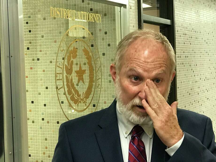 Assistant DA Bruce Hoffer becomes emotional as he offers response to the jury's death sentence in Jason Delacerda trial Tuesday. Photo: Kim Brent/The Enterprise