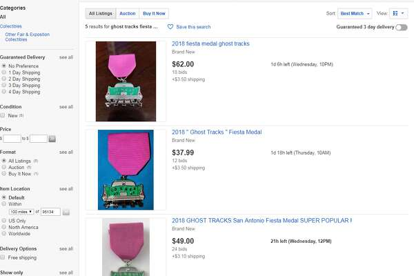 eBay is currently hosting six listings for the medal, ranging from $28.50 to $62, the latter has accrued 18 bids with a little more than a day left in the auction.