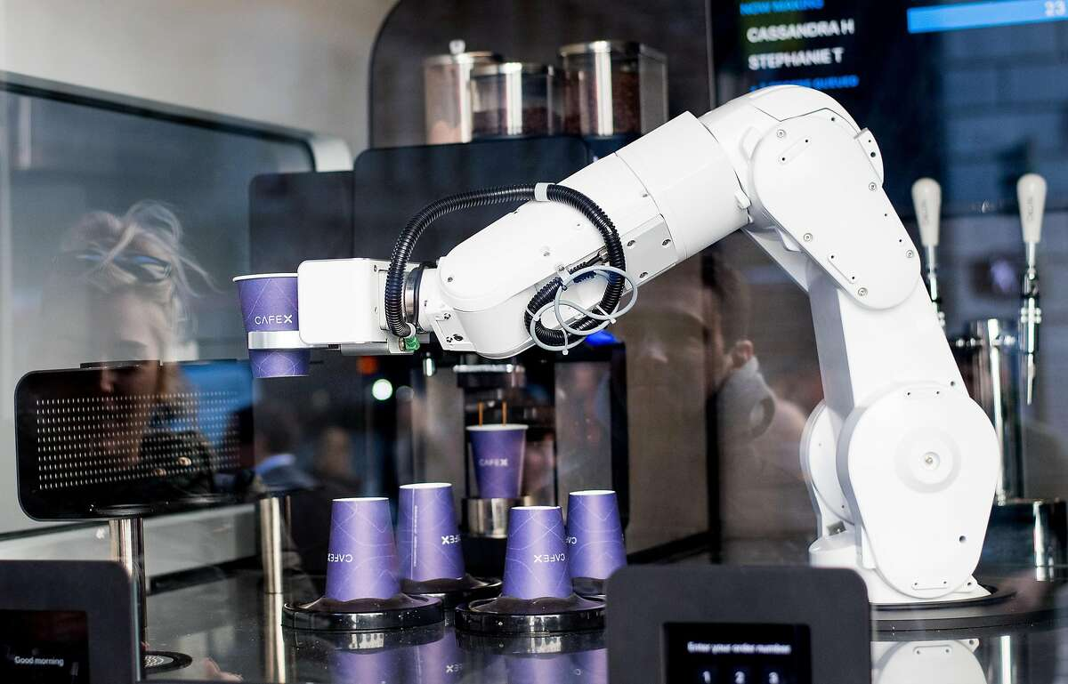 A robotic barista like this one in San Francisco will soon be making coffee at SFO