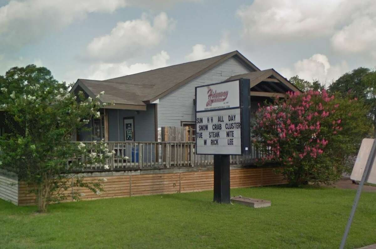 The Hideaway  3122 Dunvale Rd., Houston, TX 77063 Demerits: 39 Inspection Highlights: Observed three ten-pound pans of chicken wings at measured 54.8 F, 50.8 F, and 56.8 F; 25 pounds of ground beef measured at 47.1 F; ten pounds of cooked potatoes at 50.1 F; two five-pound packages of sausages at 51.7; two five-pound zip lock bags of cooked corn on the cob measured at 45.4 F; one five-pound zip lock bag of cut onions measured at 47.3 F; 50 pounds of raw beef steak at 55.0 F; three and a half pounds of raw shrimp at 45.5 F; eight half-gallons of buttermilk measured at 45 F. All foods discarded. Achieve initial temperature of 41 F or less when removed from cold holding temperature control, or 135 F or greater when removed from hot holding temperature.