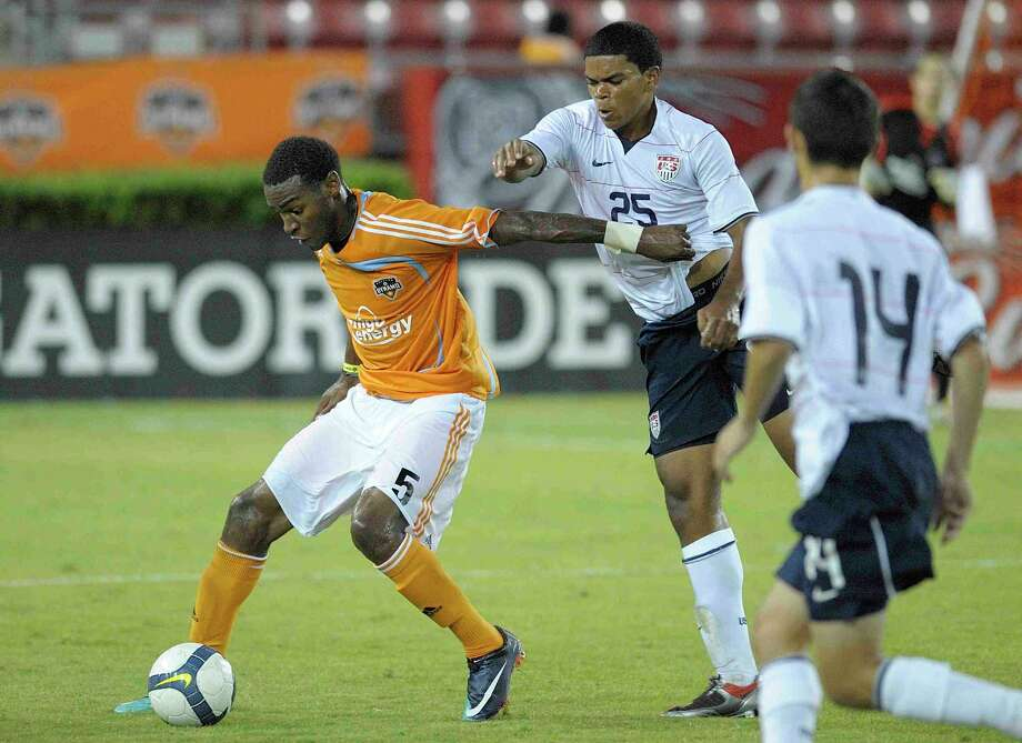 Hightower graduate Sebastien Ibeagha has been named to the US Soccer Federation Development Academy league's all-Central Conference Starting XI for the 2009-10 season. (Photo by Wilf Thorne) Photo: Wilf Thorne, Wilf Thorne/Houston Dynamo / Wilf Thorne/Houston Dynamo