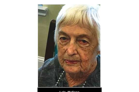 Lola Mae McCann, 90, went missing Tuesday afternoon in Conroe. Police issued a Silver Alert.