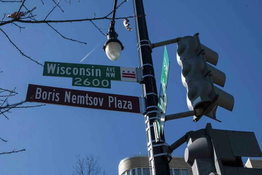 Street signs outside Russian embassy in Washington now honor