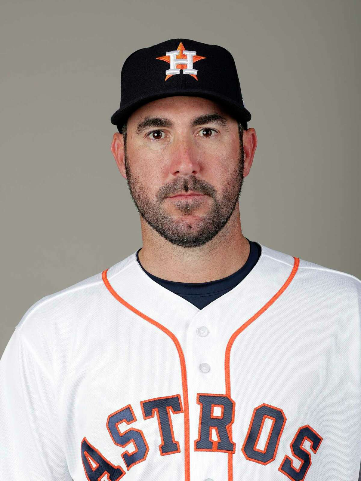 This is a 2018 photo of Justin Verlander of the Houston Astros baseball team. This image reflects the Houston Astros active roster as of Feb. 21, 2018 when this image was taken. (AP Photo/John Raoux)
