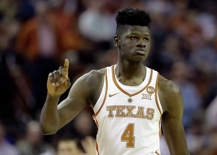 Texas forward Mohamed Bamba (4) during the second half of an NCAA college basketball game against Kansas State, Wednesday, Feb. 7, 2018, in Austin, Texas. Kansas won 67-64.(AP Photo/Eric Gay) Photo: Eric Gay, STF / Copyright 2018 The Associated Press. All rights reserved.