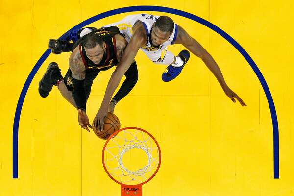 97df144acc73 1of7Kevin Durant (35) blocks a shot by LeBron James (23) in the final  seconds of the fourth quarter as the Golden State Warriors played the  Cleveland ...