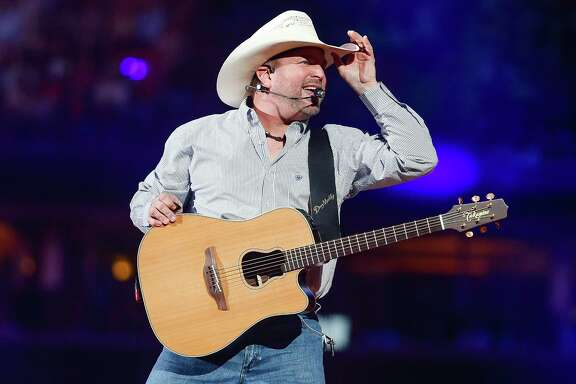 Garth Brooks performs after Round 1 of Super Series I of the Houston Livestock Show and Rodeo Tuesday, Feb. 27, 2018 in Houston.