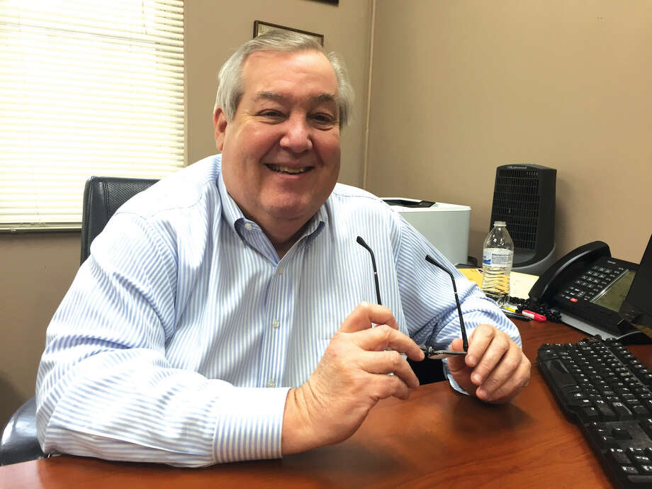 Former Edwardsville YMCA Chief Executive Officer Gary Niebur at his desk just prior to his retirement. Photo: Julia Biggs • Jbiggs.edwi@gmail.com