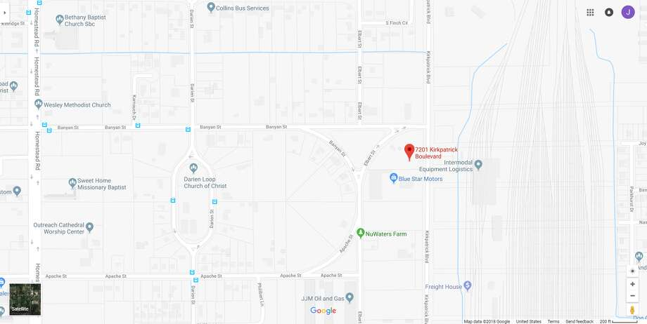 FILE - A screenshot of a Google Maps image of the 7200 block of Kirkpatrick Boulevard in Houston, Texas. Wednesday, police said a woman's body had been found near a rail yard. Photo: File/Google