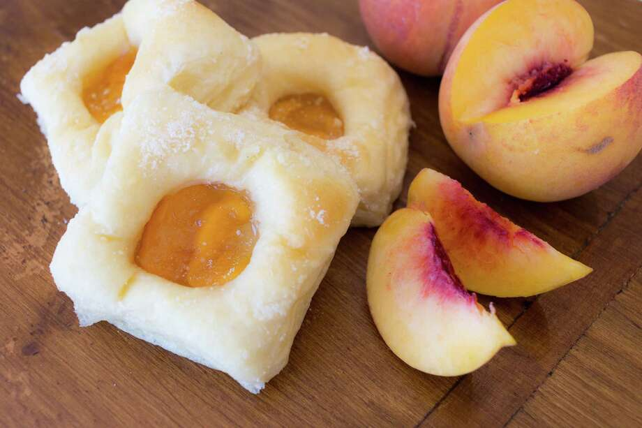 Peach kolaches from Koala Kolache in Cypress. Photo: Becca Wright