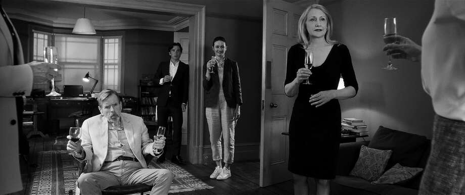 Timothy Spall, Cillian Murphy, Emily Mortimer, Patricia Clarkson in 'The Party' Photo: Roadside Attractions