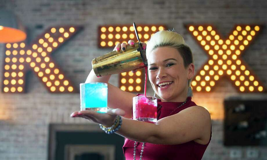 Bartender Lindsey Martin works at The Local Bar, Wednesday, Feb. 21, 2018, in Katy.  ( Mark Mulligan / Houston Chronicle ) Photo: Mark Mulligan, Houston Chronicle / © 2018 Houston Chronicle