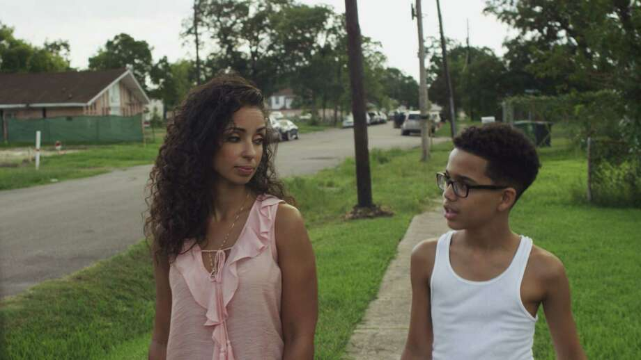 "Mina Kennedy (Mya), James Kennedy (Cayden Wilson) in a new TV show by filmmaker Greg Carter titled ""5th Ward"" or ""Fifth Ward,"" which premieres March 2 on UMC Photo: UMC"